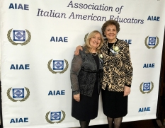 # 11 - AIAE Gala 2016 Board member Nancy Indelicato with mrs. Matilda Raffa Cuomo