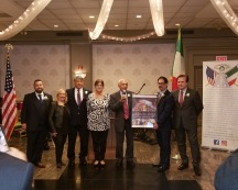 Italian Charities Gala - Soprano Christina Fontanelli, second from left, joins with friends at the Italian Charities of America fundraiser with Noelle Clancy, Bill Russo, Nancy Indelicato and Comm. Joseph Sciame, President/Chair of the IHCC-NY, Inc.